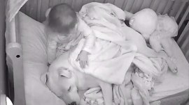 Sweet video shows toddler tucking in dog at bedtime
