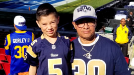 The Los Angeles Rams surprised custodian with dream Super Bowl trip
