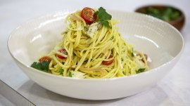 Easy pasta recipe: Make Reed Alexander's linguine with crab