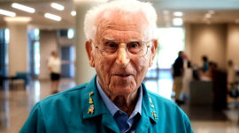 Meet the 105-year-old hospital volunteer dedicated to helping others
