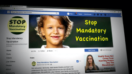 Facebook takes on vaccine controversy