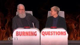 Watch David Letterman answer Ellen's burning questions