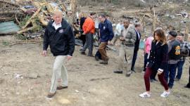 Trump tours Alabama tornado devastation