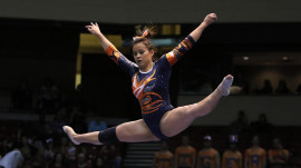 Auburn gymnast sharing inspiring message after career-ending leg injuries