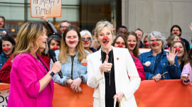 Jane Lynch talks about efforts of Red Nose Day