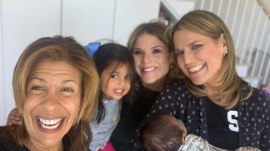 Savannah and Jenna had a special visit with Hoda and baby Hope