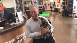 South Carolina firefighter adopts the puppy he rescued
