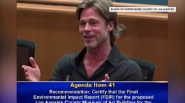 Brad Pitt asked to 'wrap it up' during impassioned speech on museum funds