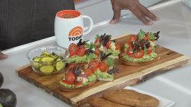 Al Roker shares a taste of his avocado toast on the TODAY Cafe menu