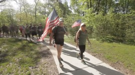 Military mom honors fallen son with annual Memorial Day walk