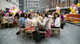 Mother's Day party on the plaza! TODAY toasts some deserving moms
