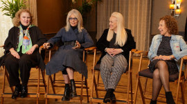 Diane Keaton and 'Poms' stars talk cheerleading, aging and more
