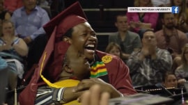 Mom gets to graduate with son, and more Highs and Lows