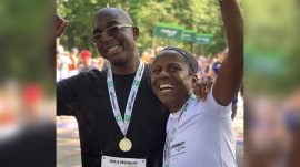 Al Roker surprises wife and son with medals after 4-mile race