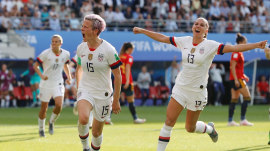 More boys proudly wearing US women's soccer jerseys
