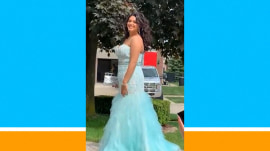 Nifty dad makes daughter's prom pics picture-perfect
