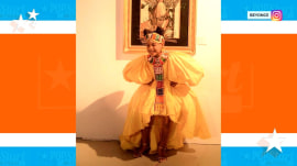Beyonce and Blue Ivy rock 'Lion King'-inspired outfits to gala