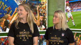 Abby Dahlkemper and Sam Mewis chat World Cup win