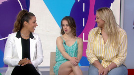 Aly Raisman, Chelsea Werner, Iskra Lawrence celebrate Special Olympians