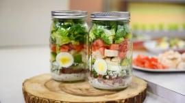 Salad jar recipes: Make a classic Cobb, chicken Caesar