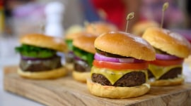 Sunny Anderson cooks up a mouthwatering burger