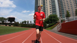 Meet the joggler trying to run the fastest mile while juggling