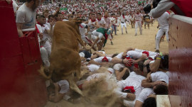 2 Americans gored in famed Running of the Bulls in Spain