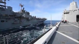 US ship downed Iranian drone in Middle East, Trump says