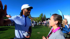 Dylan Dreyer golfs with celebrities during American Century Championship