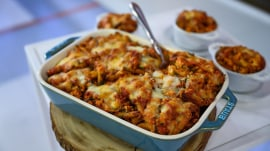 Make Joy Bauer's better-for-you baked ziti and chocolate cake