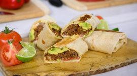 Make chef Jeff Mauro's Cuban-inspired burrito