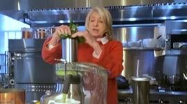 Martha Stewart shows how to make her ginger-lemon tea and baked potatoes