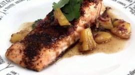 Make Katie Lee's brown sugar-chili salmon