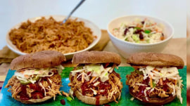 Make Joy Bauer's healthier pulled chicken and coleslaw