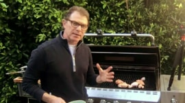 Bobby Flay and Al Roker show how to make barbecued chicken