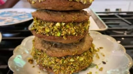 Make Aarti Sequeira's homemade ice cream cookie sandwiches
