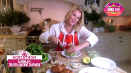 Sandra Lee creates her delicious French chicken avocado sandwich