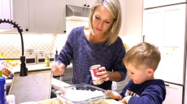 Cooking with Cal: Dylan Dreyer and her son make chicken stuffing rollups