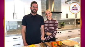 Tarek El Moussa and Heather Rae Young make vegan stuffed peppers