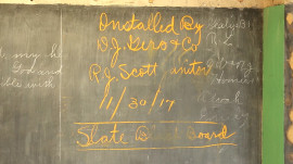100-year-old blackboard preserved in time