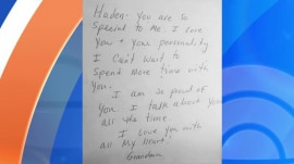 Grandma's heartfelt letter upstaged by grandpa's brevity