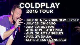 Coldplay announces 2016 U.S. tour dates