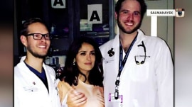 Salma Hayek's 'completely inappropriate shirt' adds humor to ER visit