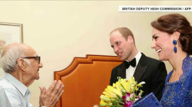 Will and Kate make 93-year-old restaurateur's dream come true in India