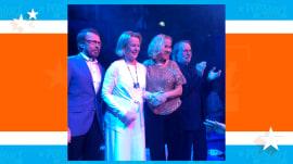 'Mamma Mia!' ABBA makes rare reunion appearance