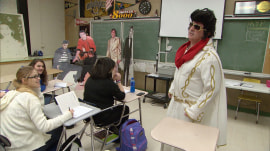 Teacher brings Elvis inspiration into classroom