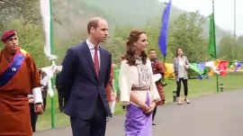 Will and Kate meet the young king and queen of Bhutan