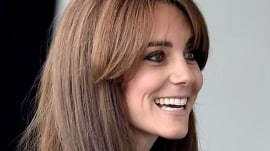 Back with a 'bang!' Duchess Kate returns to duties with new haircut