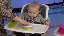 Magnetic high chair, universal sippy: It's Bobbie's Buzz, baby edition