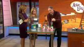 Lou Manfredini shows genius new tool for painting